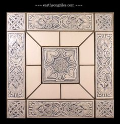 Earthsong Tiles- hand made and gorgeous.  This will be my new backsplash in the kitchen   here's their web site: http://earthsongtiles.com/