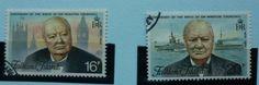 Falkland Islands Stamps 1974 Birth Centenary of Sir Winston Churchill SG304-305, used