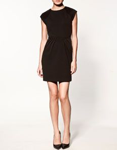 black zara dress.  possibly too short to wear to work, but classic nonetheless.