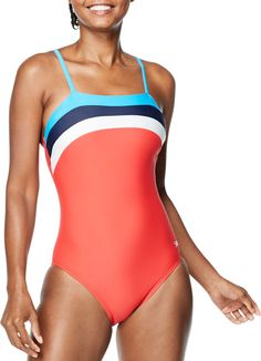 Modest Swimsuits, One Piece Swimsuit, Color Blocking, Size 12, Cups, Silhouette, Technology, Contemporary, Tecnologia