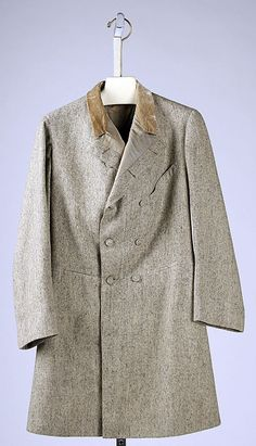 Frock coat, Date: 1863 Culture: British Medium: wool, silk
