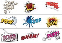 FREE A set of portrait and landscape borders with a superhero theme. Perfect for your onomatopoeia display work.