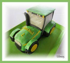 Gâteau tracteur en 3D et tutoriel