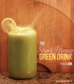 Super Human Juice Recipe 1 lemon, 2 garlic cloves, 4 mint sprigs 3 cucumbers, 2 celery stalks and a hanful of parsley. Best Juicing Recipes, Healthy Juice Recipes, Juicer Recipes, Best Vegan Recipes, Healthy Juices, Healthy Smoothies, Raw Food Recipes, Healthy Drinks, Healthy Eating