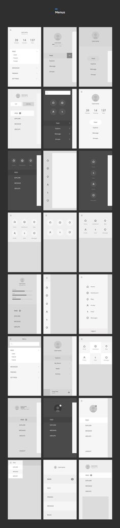 Cool collection of mobile menu patterns