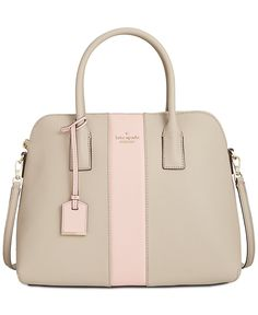 kate spade new york Cameron Stripe Racing Stripe Satchel - Designer Handbags - Handbags & Accessories - Macy's