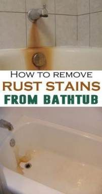 Bath Tub Cleaner Borax Cleanses 49 Ideas Remove Rust Stains How To Remove Rust Bathtub