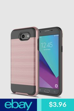 1cf72fcc40c For Samsung Galaxy J3 Emerge J3 Prime - Brushed Hybrid Armor Hard Case Cover