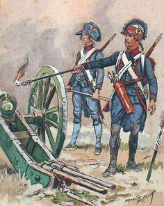 French; 5th Regiment of Artillery a Pied, c.1795 by Maurice Toussaint