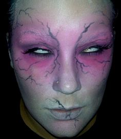 My '10 Halloween makeup, inspired by MAC's Zombie Chick face chart. #Makeup
