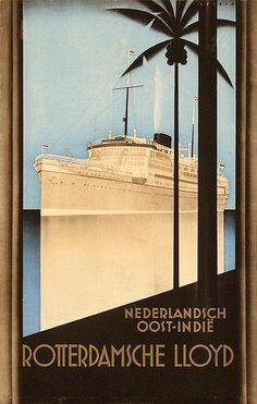Rotterdamsche Lloyd Nederlandsch Oost-Indië - 45,5x71,5, 1931, on japan by Johann A.W. von Stein (1896-1965)