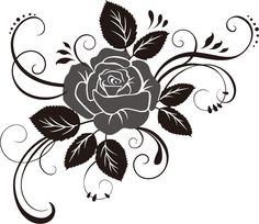 cf Belle Fleur and Sandi Henderson's Secret Garden. Pen tips would rock here, on top of a mount for the shape. and embossing tips for swirls.Clipart Of A Black And White Rose Flower 17 - Royalty Free Vector Illustration by Seamartini GraphicsSureya o Free Vector Illustration, Vector Art, Rose Stencil, Gravure Laser, White Rose Flower, Wood Burning Patterns, Glass Etching, Rose Tattoos, Tribal Art