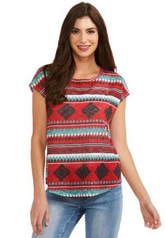 75a82425525b7 Cato Fashions Southwestern Flair Top-Plus  CatoFashions Aztec Clothing