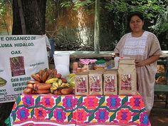Coffee saleswoman at Oaxaca Market in Mexico
