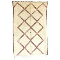 Vintage Beni Ourain Rug - 5′9″ × 8′9″ ($1,375) ❤ liked on Polyvore featuring home, rugs, geometric rug, diamond pattern rug, harlequin rugs, diamond rug and hand-knotted rug