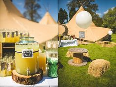 A Relaxed, Spring Wedding With Teepees and Treats
