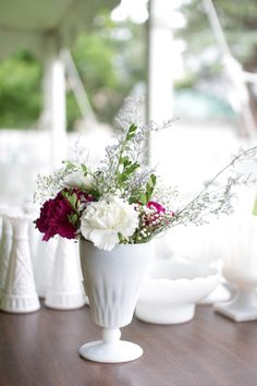 50 Milk Glass Vases for sale on Recycle Your Wedding