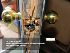 Locksmith Tip of the Week from Top Locksmith Service: Replace any rotted door frames