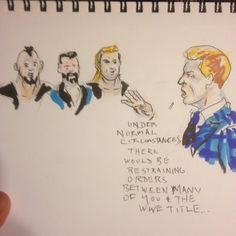 "Vince ""encourages"" many of the #WWE roster to win the #WWETitle @ #RoyalRumble including ""Dolf Zeegler"" and others. #RAW #RAWComix pt 2"