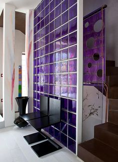 Using colored and frosted glass blocks can add a unique style and freshness to your design. At Innovate Building Solutions, we offer 104 standard and frosted colors for any window, wall or shower project. Glass Blocks Wall, Block Wall, Bathroom Glass Wall, Industrial Interior Design, Frosted Glass, Home Renovation, Window Treatments, Your Design, Home Decor
