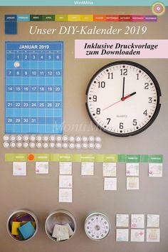 The MontiMinis Kalender 2019 ist da – Mobile Phone Ideas Diy Calendar, Printable December Calendar, Blank Calendar Pages, Monthly Planner Printable, Printable Calendar Template, 2021 Calendar, Weekly Planner, Calendar Board, Calendar Time