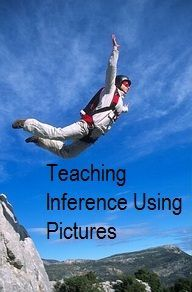 An entire pinboard dedicated to pictures that assist in teaching inference