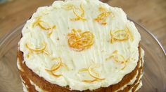 This Spiced Whole Orange Cake with Orange Mascarpone Icing is Mary's interpretation of the signature challenge in the Cakes episode of Season 2 of The Great British Baking Show.
