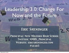 Leadership requires a dynamic combination of mindset, behaviors, and skills that are employed to change and/or enhance school culture with the assistance o… Educational Leadership, Educational Technology, Leadership Vision, Behavior, High School, Cards Against Humanity, Student, Social Media, Change
