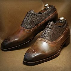 Leather  laceup Brogue maker unknown