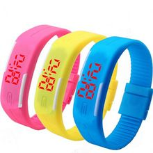 2015 New Fashion Sport LED Watch Candy Color Silicone Rubber Touch Screen Digital Watches Waterproof Wristwatch Dress Bracelet