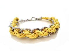 Rope Chainmaille Bracelet by ChichiKnots on Etsy, $15.00