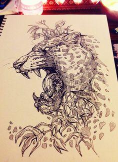 The Jaguar king by WolfSkullJack.deviantart.com on @DeviantArt