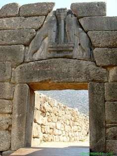 Greece - The Lion Gate of Mycenae was the entrance to the city.