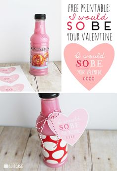 I Would SO Be Your Valentine free printable tags