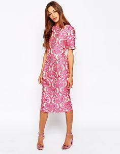 Image 1 ofASOS Jacquard Wiggle Dress