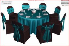 With black chair covers instead of brown?
