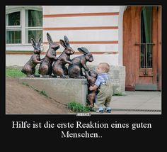 Hilfe ist die erste Reaktion eines guten Menschen.. | Lustige Bilder, Sprüche, Witze, echt lustig