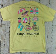 "NWT Simply Southern"" Summer Essentials In The South"" Women's Sz. Medium T-Shirt #SimplySouthern #GraphicTee"