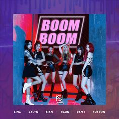 ANS - 'BOOM BOOM' Album Cover Kpop Girl Groups, Korean Girl Groups, Kpop Girls, Boom Boom Boom Song, Album Cover Design, Google Play Music, Song Time, Album Songs, Popular Music