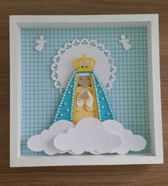 Quadro Nossa Senhora Aparecida Scrapbook Arte Quilling, Quilling Paper Craft, Quilling Designs, Paper Crafts, Diy Home Crafts, Crafts For Kids, Scrap Material, Image Fun, Sacred Art