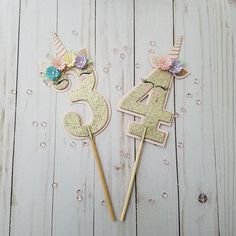 Your place to buy and sell all things handmade Unicorn Themed Birthday Party, Happy Birthday, Unicorn Party, Number Cake Toppers, Number Cakes, Glitter Unicorn, Cricut Cake, Cake Banner, Unicorn Cake Topper