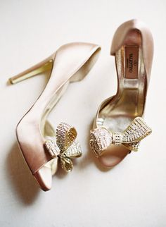 Blush pink Valentino wedding shoes. Catherine Mead Photography