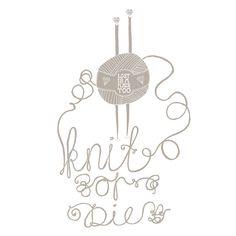 Knit or Die art print  #illustration #laurenfowler