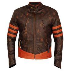 X Men Origins Wolverine Halloween Movie Costume Leather Jacket Mens - 4XL / Sheepskin Leather