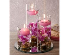 Set Of Three Lilac Floating Candles How fabulous is this??  More great ideas here: https://www.facebook.com/groups/supersupermarket/