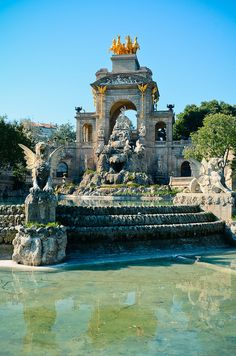 Le parc de la Ciutadella, Barcelona, Spain.