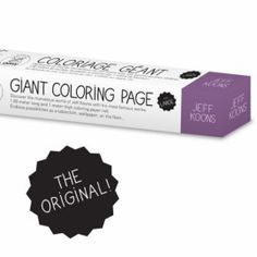 'jeff koons' giant colouring roll by omy