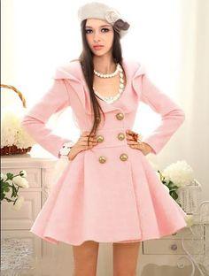 Ruffles Wool Trench Coat/Dress | Winter Coats | Pinterest | Wool ...