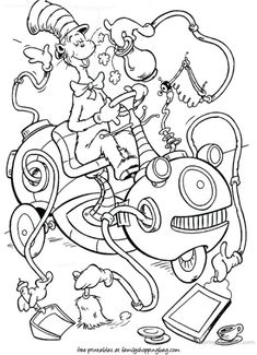 Dr. Seuss Characters Coloring Pages | dr seuss coloring pages with ...