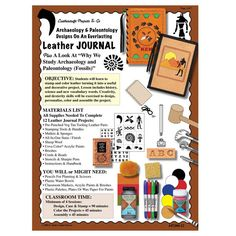 Leathercraft Library - Archaeology Tooling Journal Lesson Plan